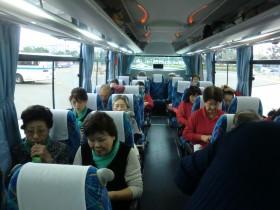 福岡空港から一路薩摩川内へバス車中