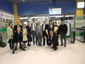 小島先生と柏崎駅改札口前で記念写真小島先生有難うございました。